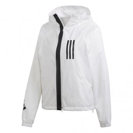Adidas Giacca Fleece Lined WND Bianco Donna