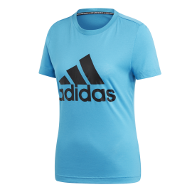 ADIDAS t shirt must have badge of sport azzurro donna