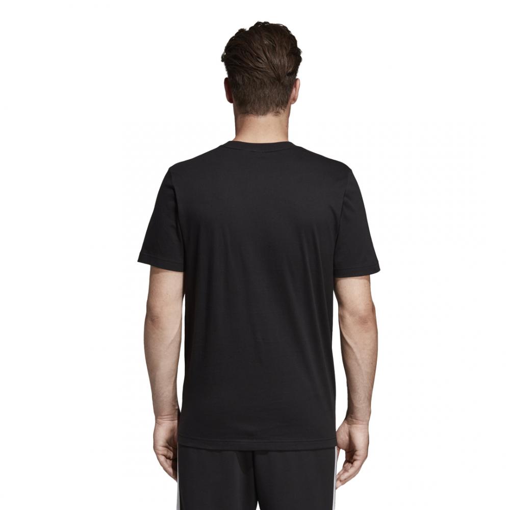 ADIDAS t shirt must have badge of sport nero bianco uomo