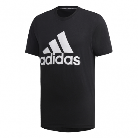 ADIDAS t shirt must have badge of sport nero bianco uomo