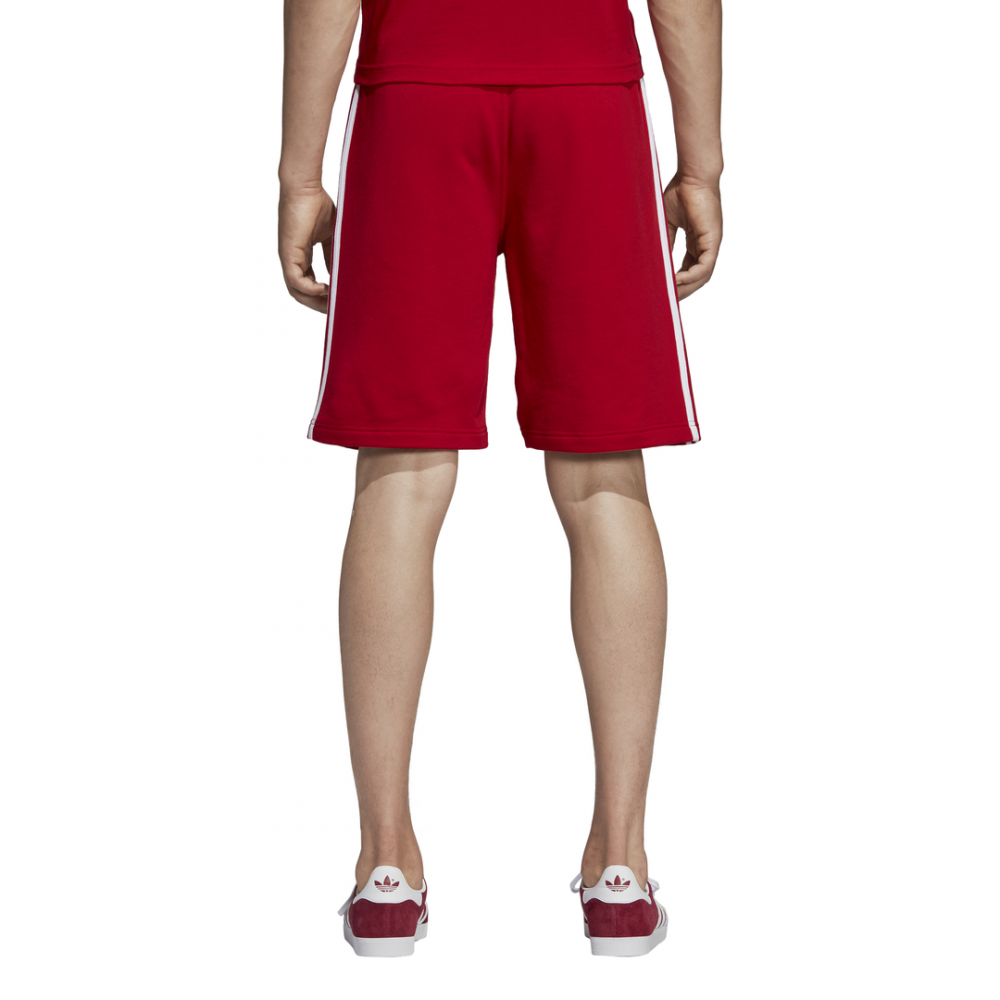 pantaloni corti adidas rossi