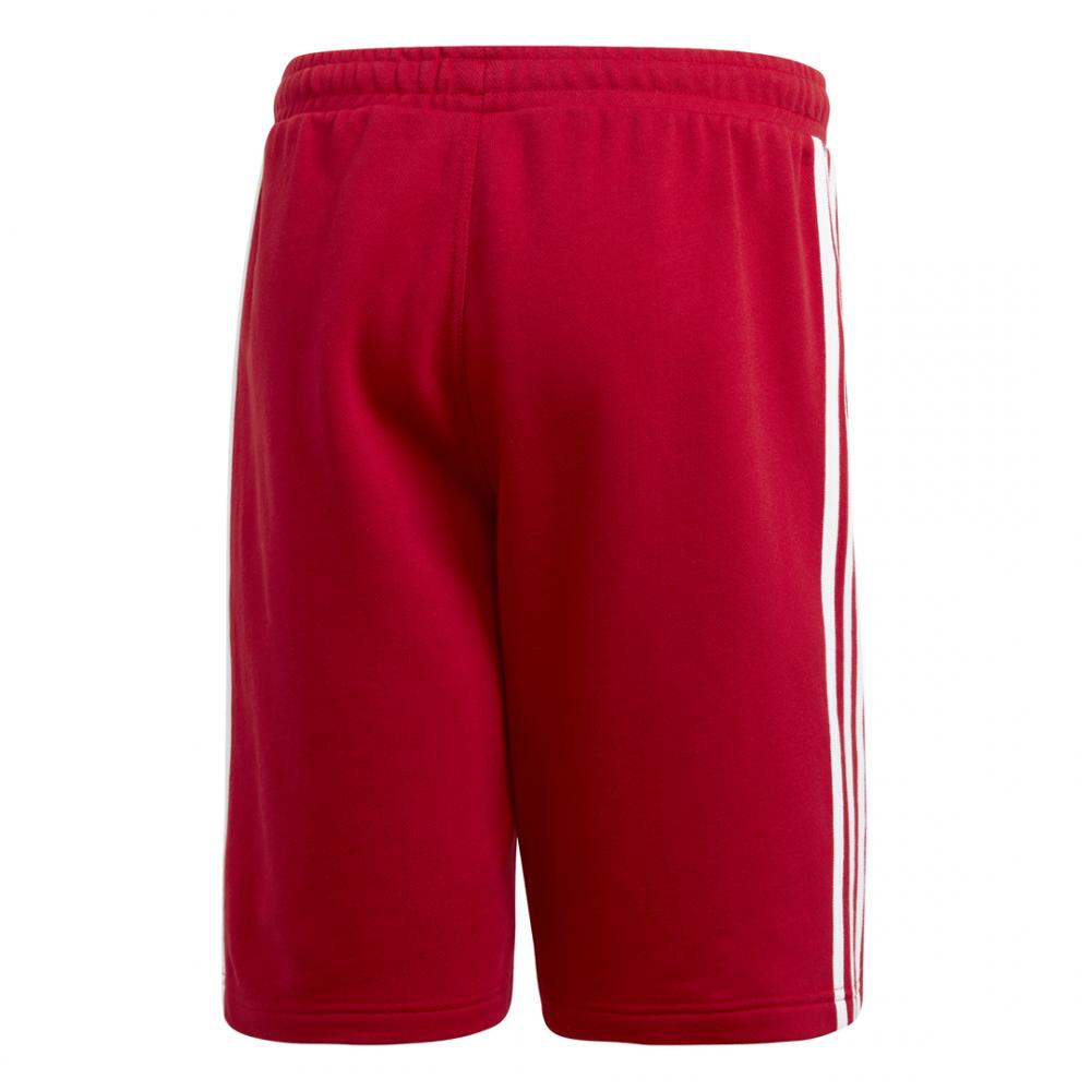 ADIDAS originals short 3 stripes rosso uomo dv1525 acq