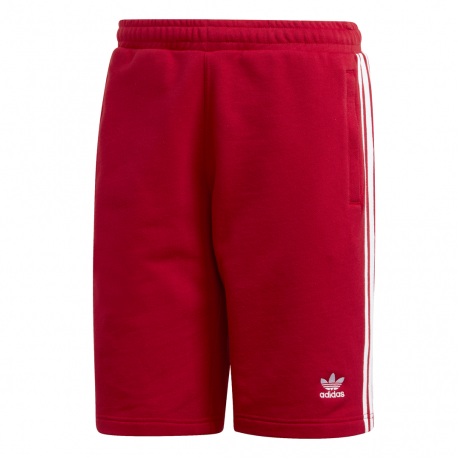 ADIDAS originals short 3 stripes rosso uomo
