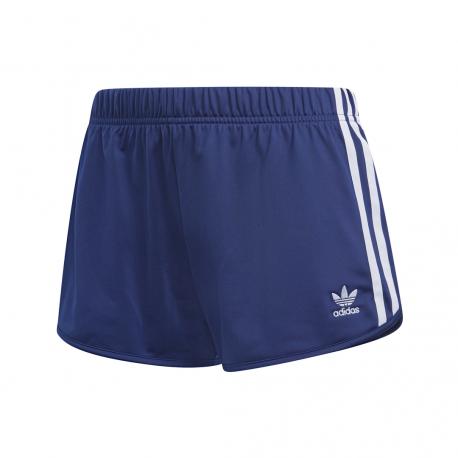ADIDAS pantaloncino 3 stripes blu scuro donna