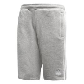 ADIDAS originals pantaloncino palestra 3 stripe grigio uomo