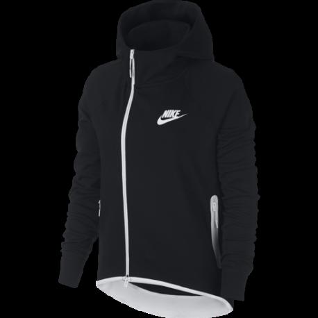 Nike Sportwear Felpa Tech Fleece Nero Donna
