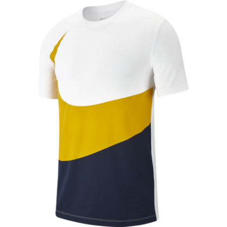 Nike Sportswear T-Shirt Swoosh Bianco Grigio Scuro Uomo