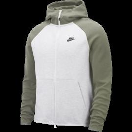 Nike Sportswear Felpa Con Zip E Cappuccio Verde Uomo
