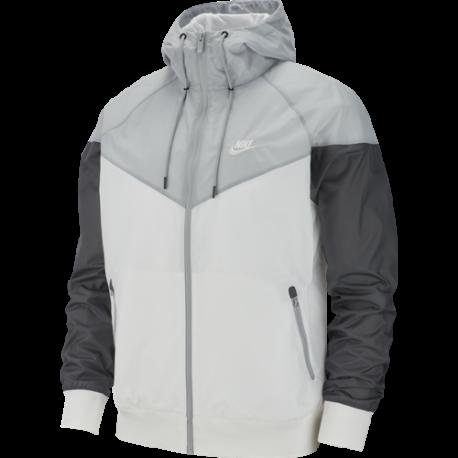 Nike Sportswear Giacca A Vento Bianco Grigio Uomo