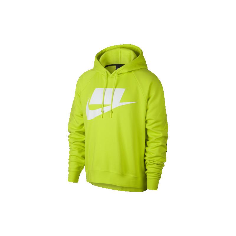 purchase cheap c44f8 553b7 Nike Sportswear Felpa Con Cappuccio NSW Patch Giallo Uomo
