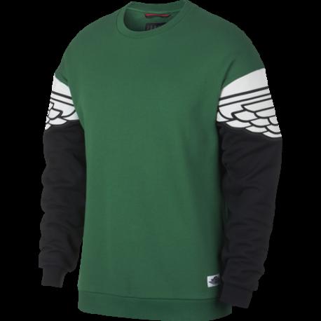 Nike Sportswear Giacca Jordan Wings Classics Girocollo Avorio Verde Uomo