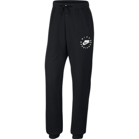 Nike Sportswear Pantalone Fleece Nero Bianco Donna