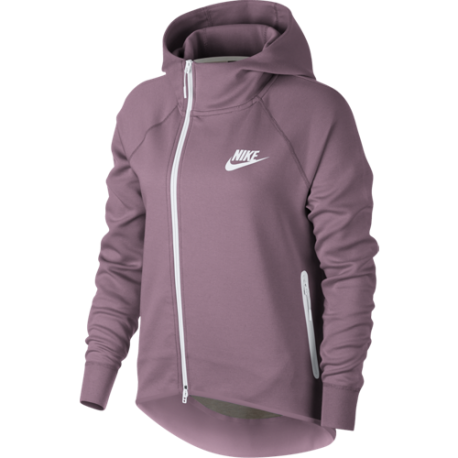Nike Sportswear Cappa Tech Fleece Con Zip Cipria Donna