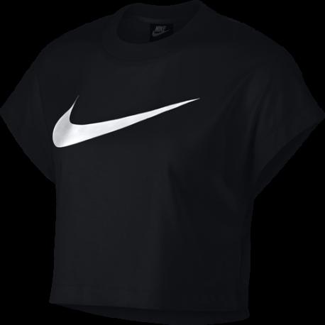 Nike Sportswear Crop Top Swoosh Nero Donna