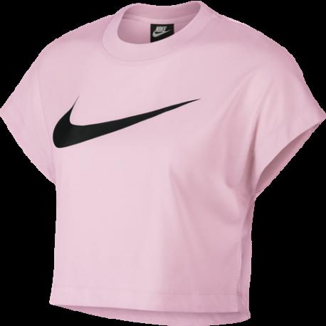 Nike Sportswear Crop Top Swoosh Rosa Donna
