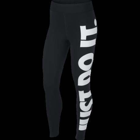 Nike Leggings Maxi Logo Nero Donna