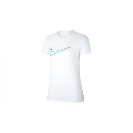 Nike Sportswear T-Shirt Swoosh Bianco Donna