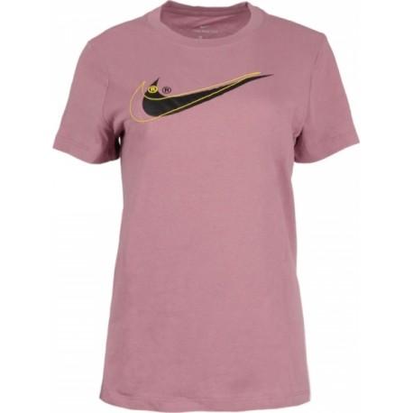 Nike Sportswear T-Shirt Swoosh Rosa Donna