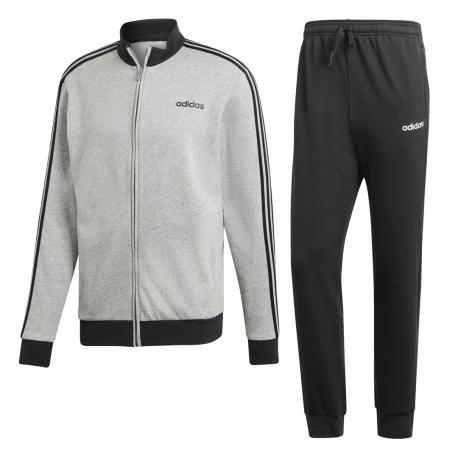 ADIDAS tuta sportiva essentials grigio nero uomo