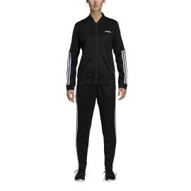 ADIDAS tuta sportiva back to basics 3 stripes nero donna