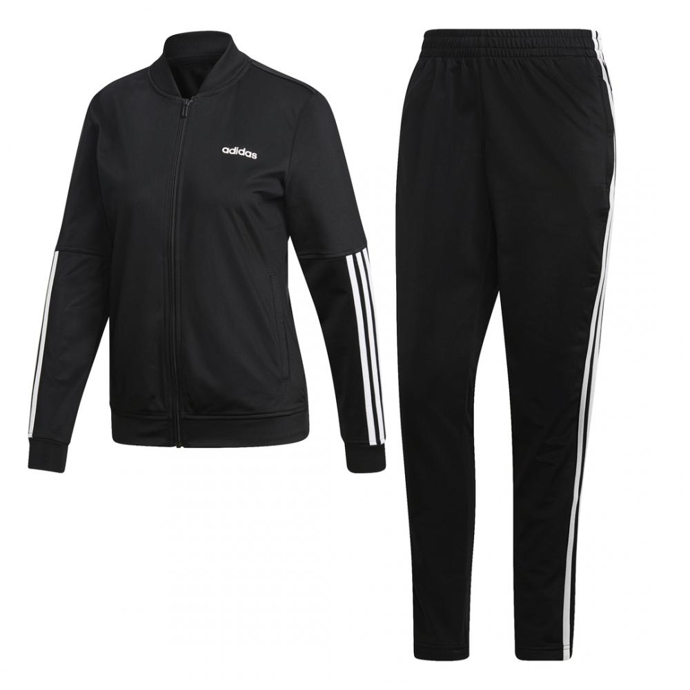 0101497d01 ADIDAS tuta sportiva back to basics 3 stripes nero donna - Acquista ...