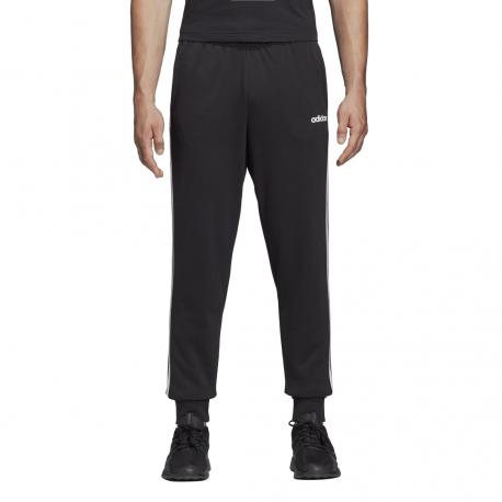ADIDAS pantalone essential linear 3 stripes nero bianco uomo