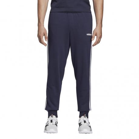 ADIDAS pantalone essential linear 3 stripes blu bianco uomo
