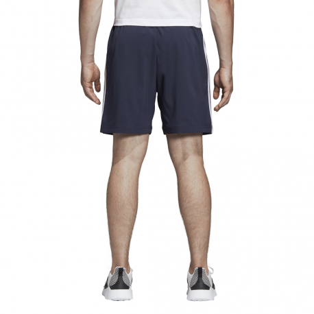ADIDAS pantaloncino essentials chelsea 3 stripes blu bianco uomo