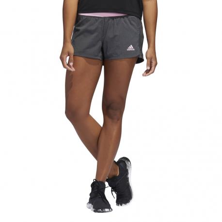 ADIDAS pantaloncino palestra 2 in 1 mesh grigio rosa donna