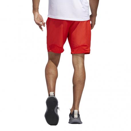 ADIDAS pantaloncino palestra 4krft tech rosso nero uomo