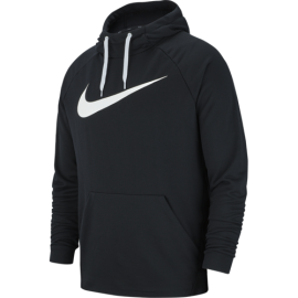 Nike Felpa Palestra Swoosh DriFit Nero Uomo
