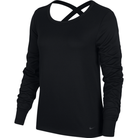 Nike Maglietta Palestra Manica Lunga Elastika Nero Donna