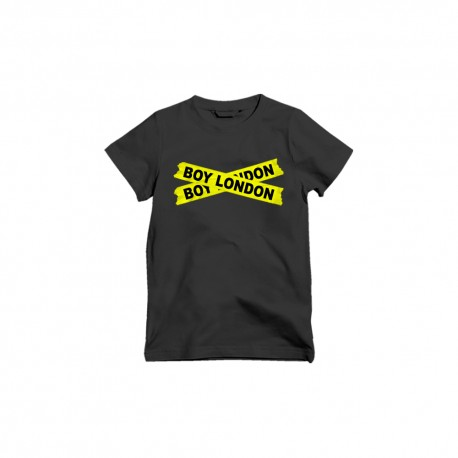 Boy London T-Shirt Logo Fluo Nero Uomo