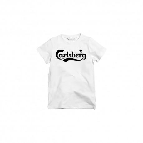 Carlsberg T-Shirt Logo Elastico Bianco Uomo