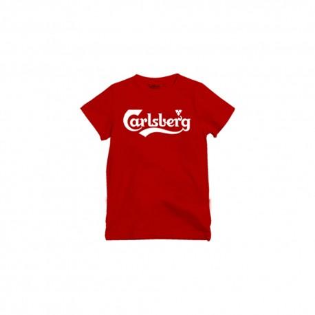 Carlsberg T-Shirt Logo Elastico Rosso Uomo