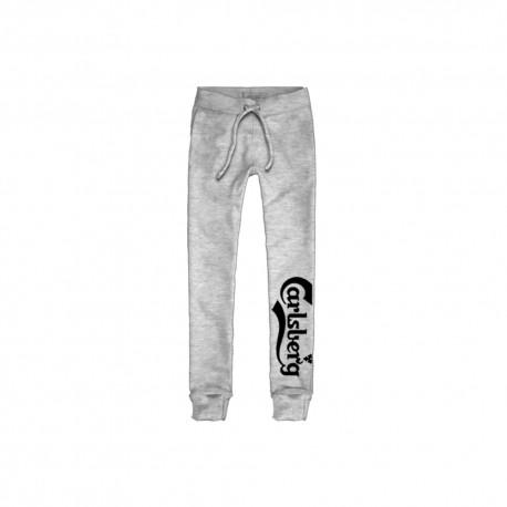 Carlsberg Pantalone Polsino Logo Grigio Uomo
