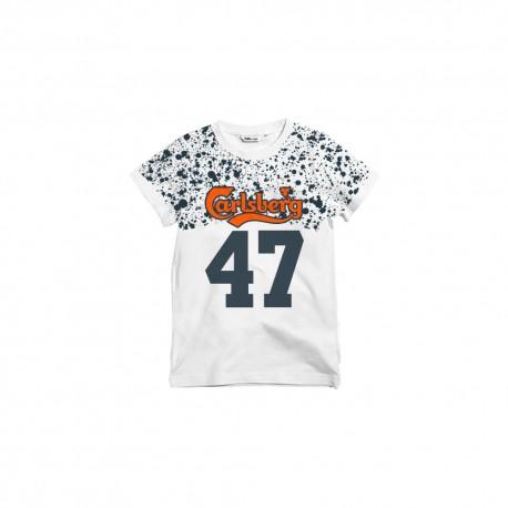 Carlsberg T-Shirt Fantasia Spruzzata Bianco Uomo
