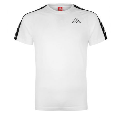 Kappa T-Shirt Banda Bianco Uomo