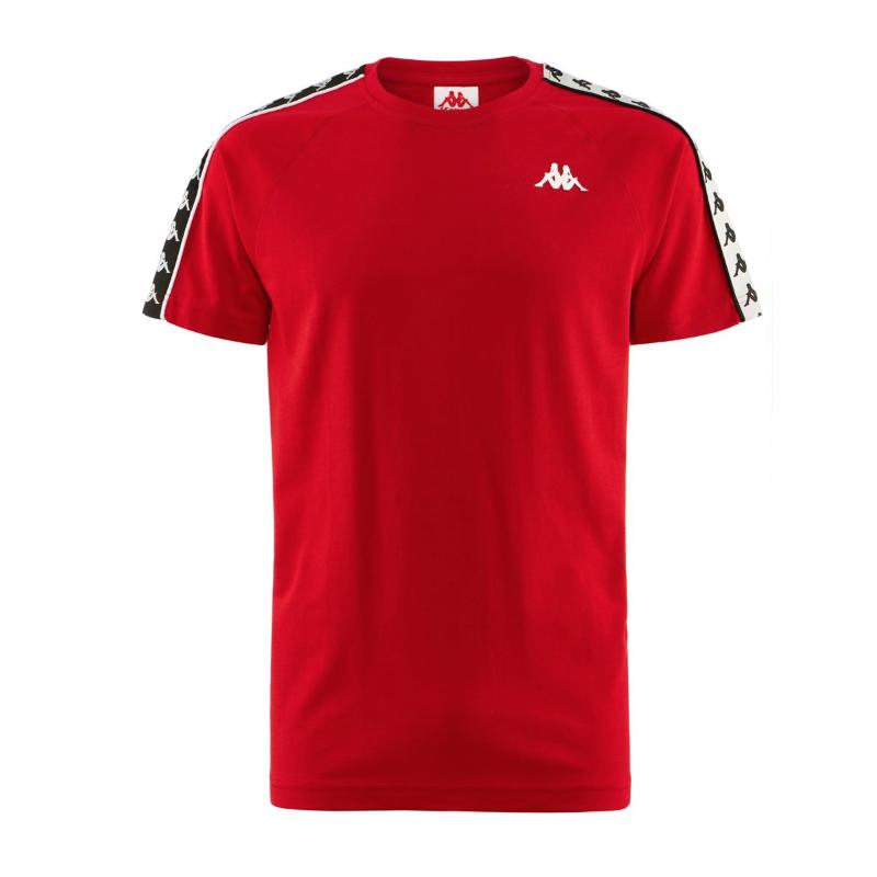 Kappa T-Shirt Banda Rosso Uomo