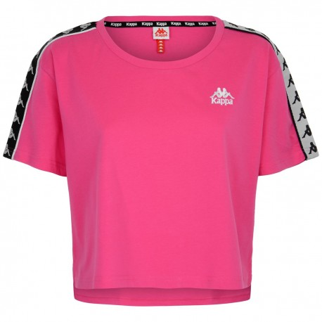Kappa T-Shirt Crop Fucsia Donna