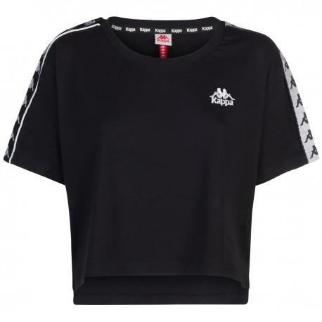 Kappa T-shirt Crop Nero Donna