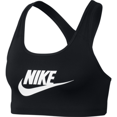 Nike Reggiseno Sportivo DriFit Classic Swoosh Futura Nero Donna