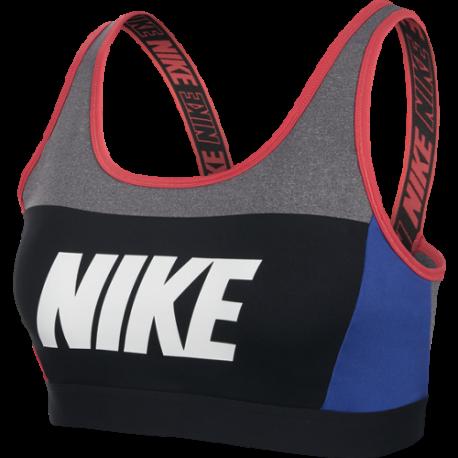 Nike Reggiseno Sportivo DriFit Classic Grigio Blu Donna
