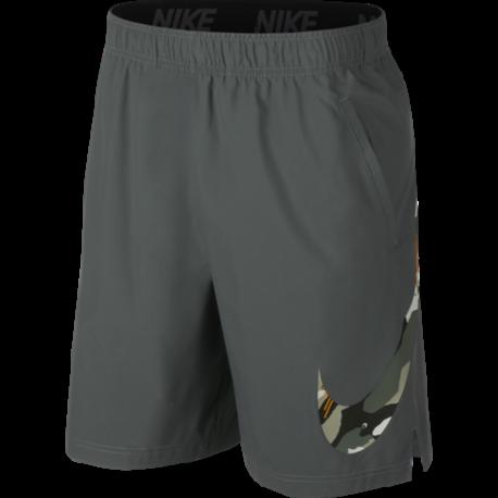 Nike Pantaloncino Palestra DriFit Flex Tech Pack Grigio Uomo