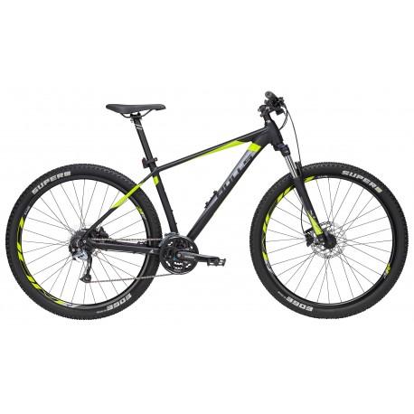 Bulls MTB Mountain Bike Bushtail 29 Nero Opaco Lime Grigio