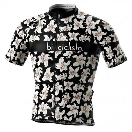 Biciclista Maglia Ciclismo Hanalei Bay Nero Bianco Uomo
