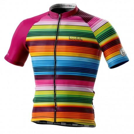 Biciclista Maglia Ciclismo Mexico Multicolor Uomo