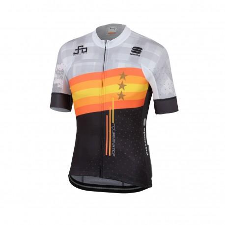 Sportful Maglia Ciclismo Bodyfit Team Sagan Stars Grigio Uomo