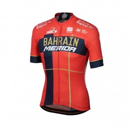 Sportful Maglia Ciclismo Bodyfit Team Bahrain Rosso Uomo