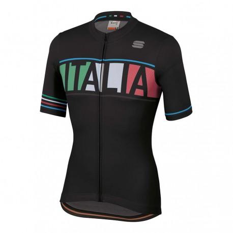 Sportful Maglia Ciclismo Italia Nero Uomo